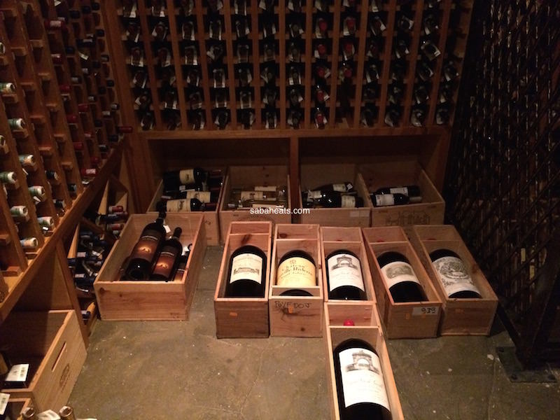 wine cellar gaya island resort
