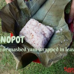 Linopot – Rice or mashed yam wrapped in leaves