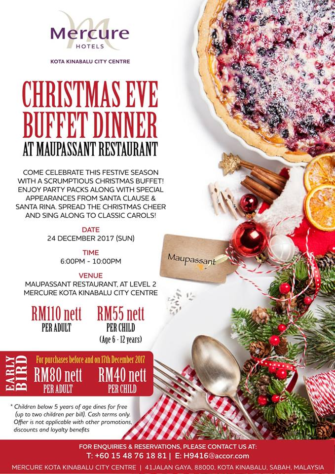 Hotels Mercure Kota Kinabalu Christmas Eve Buffet Dinner