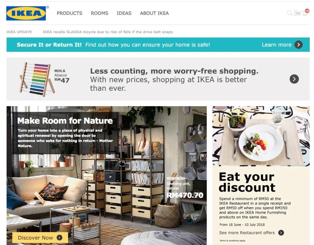 Ikea Opened Their Online Store And They Delivers To Sabah Sabah Eats