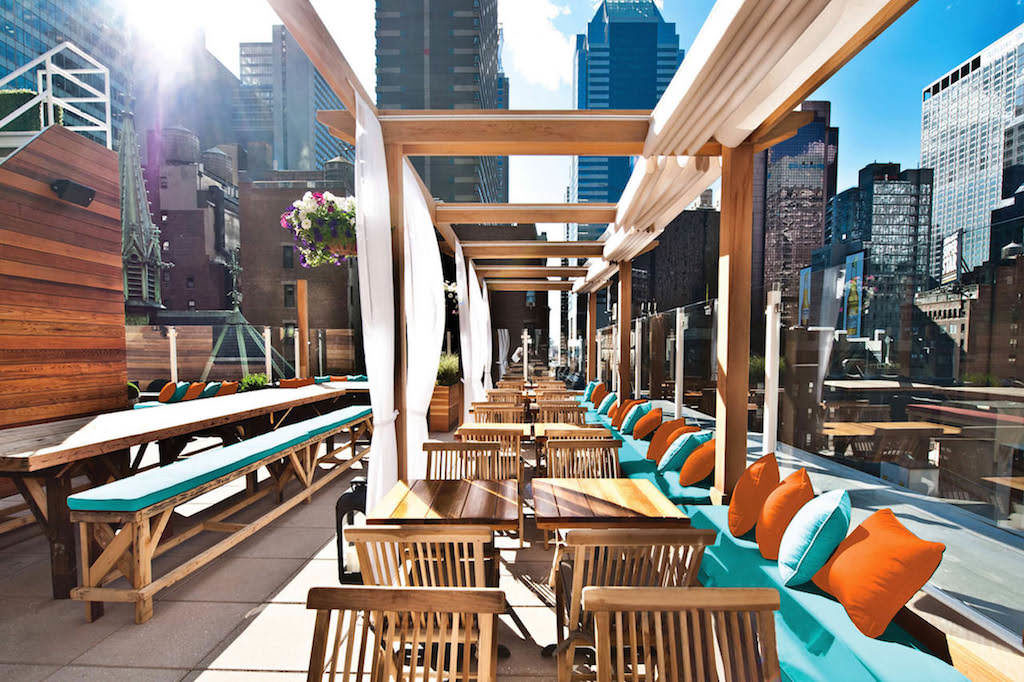 Rooftop Bar at Sanctuary Hotel New York
